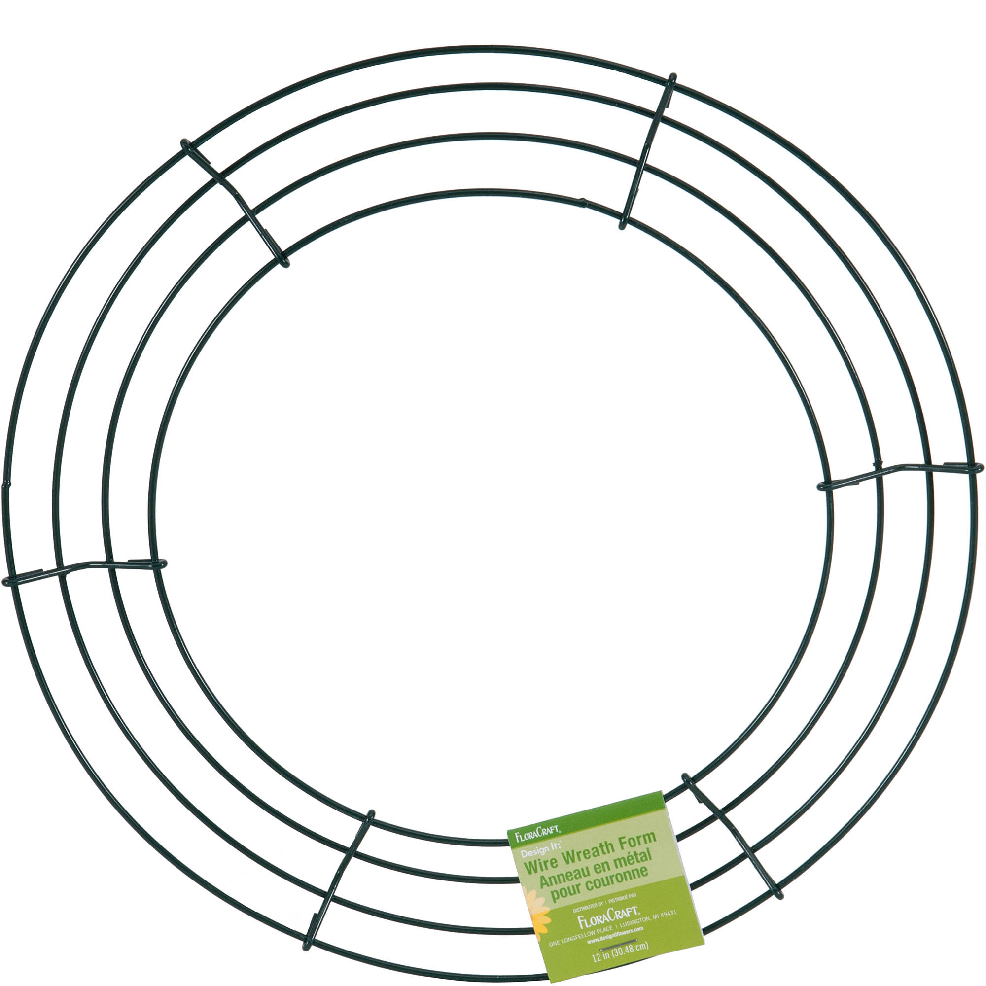 "FloraCraft Design It 12"" Green Wire Wreath, 1 Each"