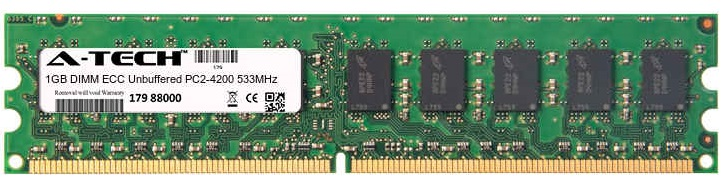 1GB Module PC2-4200 533MHz ECC Unbuffered DDR2 DIMM Server 240-pin Memory Ram