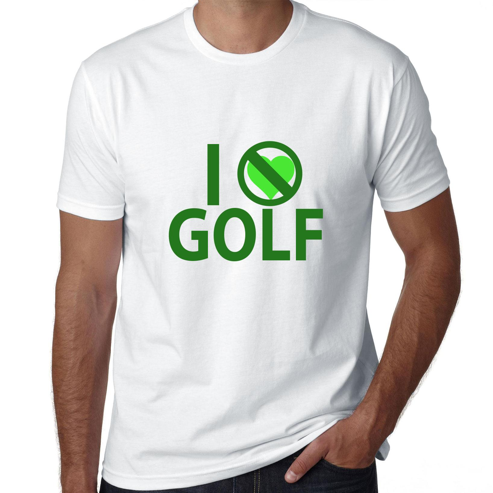 I Don't Love Golf - Green Heart Hate Golf Men's T-Shirt