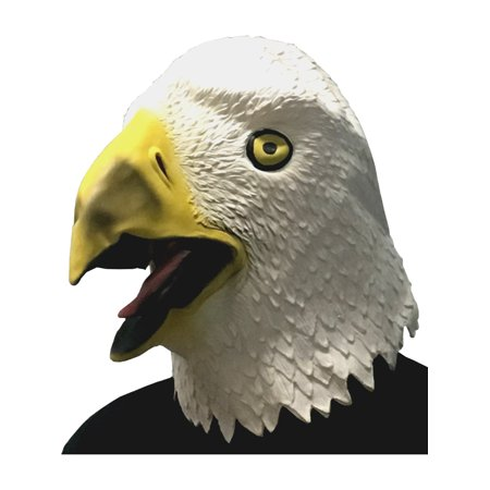 Adults Funny Bald Eagle Animal Full Overhead Latex Mask Costume Accessory