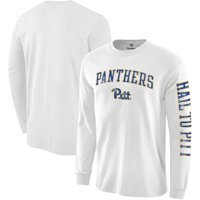 Pitt Panthers Fanatics Branded Arch Over Logo 2-Hit Long Sleeve T-Shirt - White