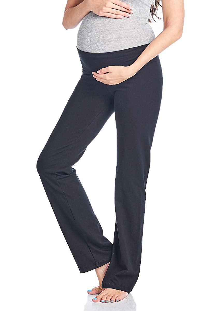 Beachcoco Women's Maternity Fold Over Comfortable Lounge Pants