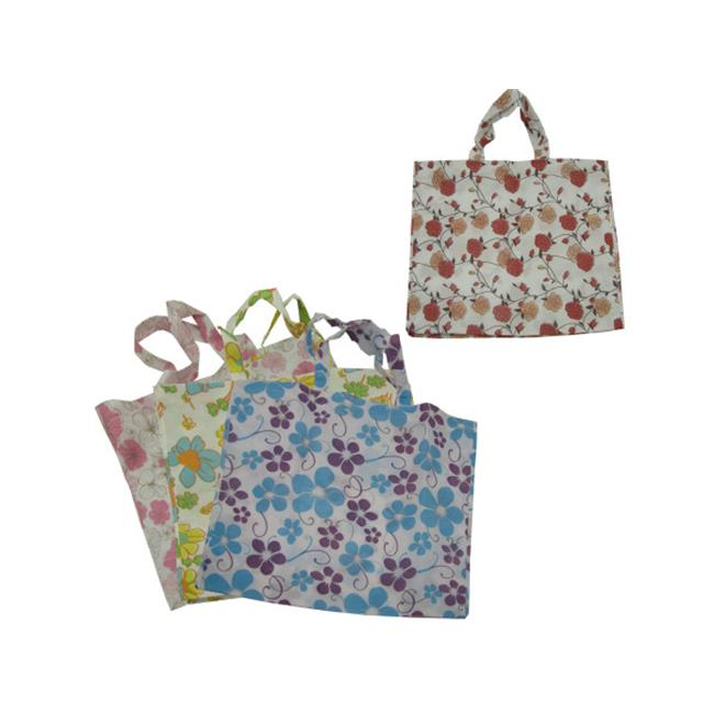 Large flower tote bag  assorted designs - Case of 48