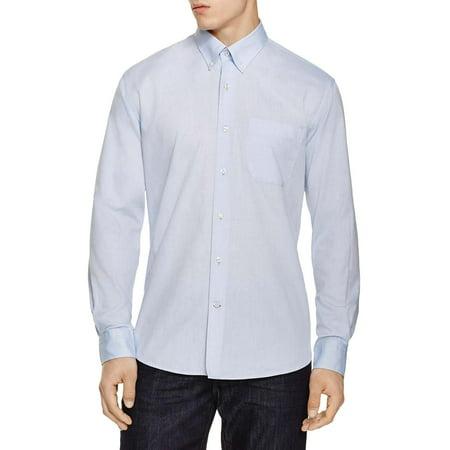 Bloomingdales Mens Regular Fit Egyptian Cotton Oxford Shirts Large L Light Blue