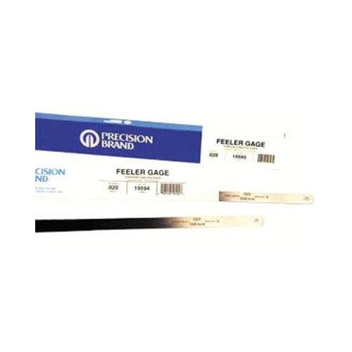 Precision Brand Flat Length Steel Feeler Gauges - 19k9 .009 1/2''x12'' flatlength feeler gaug (Set of 12)