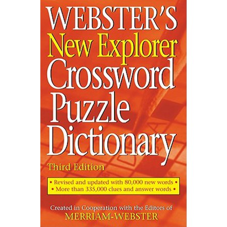 - Webster's New Explorer Crossword Puzzle Dictionary