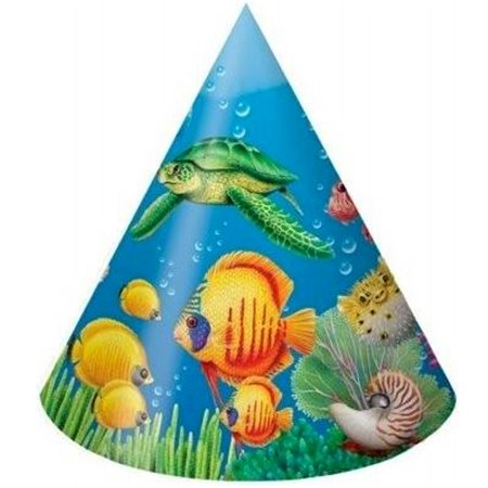 Ocean Friends Cone Hats (8ct)