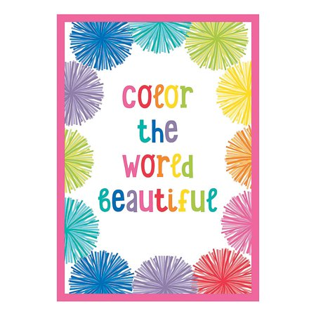 Fun Express - Sgs Hello Sunshine Color World Poster - Educational - Learning Aids - Learning Charts - 1 Piece