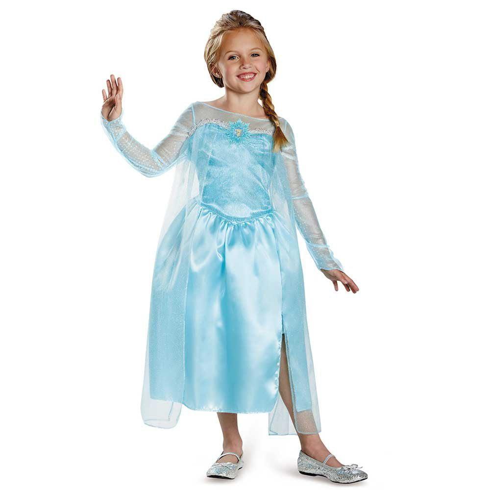 Disguise Disney\'s Frozen Elsa Snow Queen Gown Classic Girls Costume ...