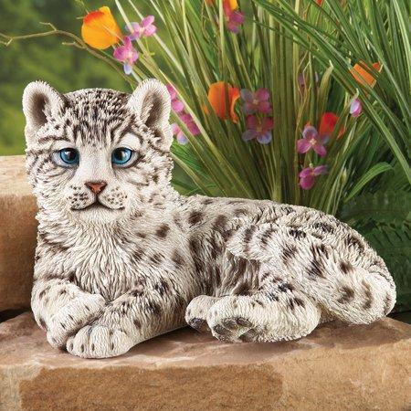 Collections Etc. Snow Leopard Outdoor Garden Statue Animal Decoration ()