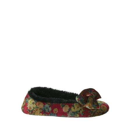 Dearfoams Women's Crinkle Velvet Ballet Slippers](Cinderella Ballet Slippers)