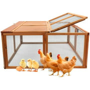 Best Chickens Coops - Wooden Small Animal Chicken Coop Rabbit Hutch Bunny Review