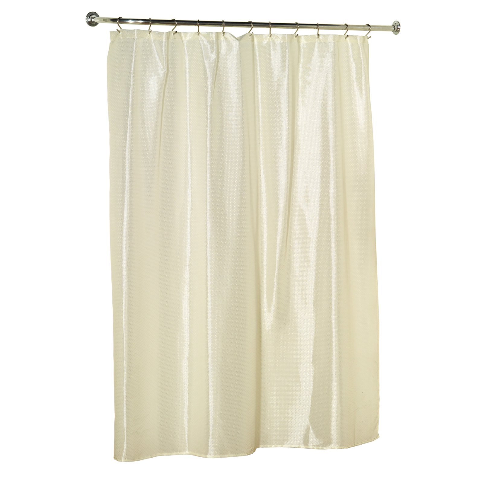 """Lauren"""" Dobby Fabric Shower Curtain in Light Blue"""