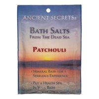 Ancient Secrets Aromatherapy Dead Sea Mineral Bath Salts, Patchouli, 4 Oz