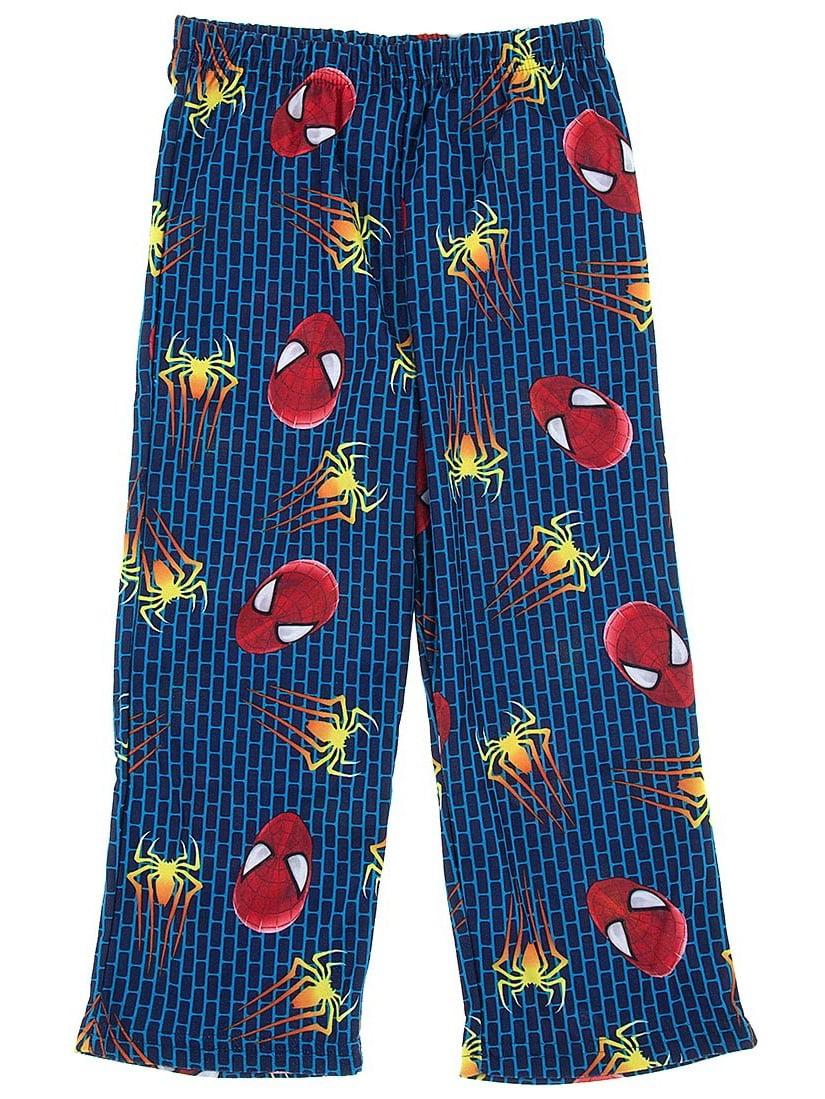 Marvel Comics Boys Spider-man Blue Pajama Pants