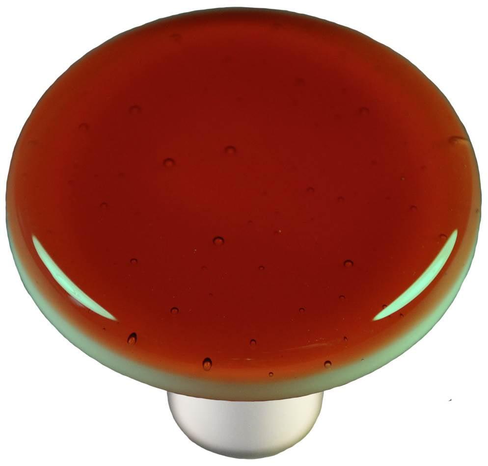 Round Knob in Sunset Coral (Aluminum)