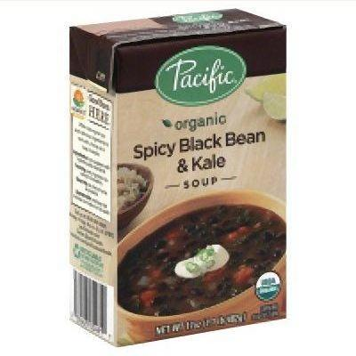 12 Pack : Pacific Natural Foods Spicy Black Bean & Kale 17 Oz by