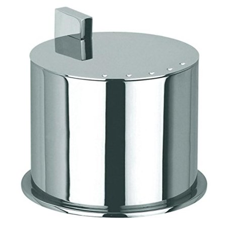 - Ginger Kubic Solid Brass Vanity Jar No. 1, Medium Size, Polished Chrome