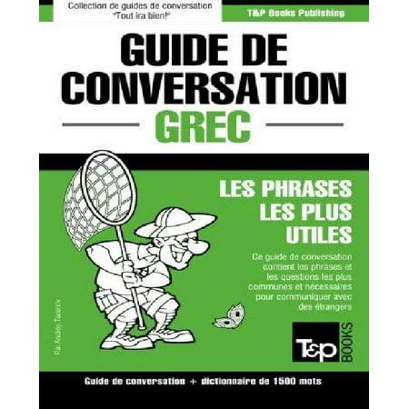 guide de conversation franais grec et dictionnaire concis de 1500 mots