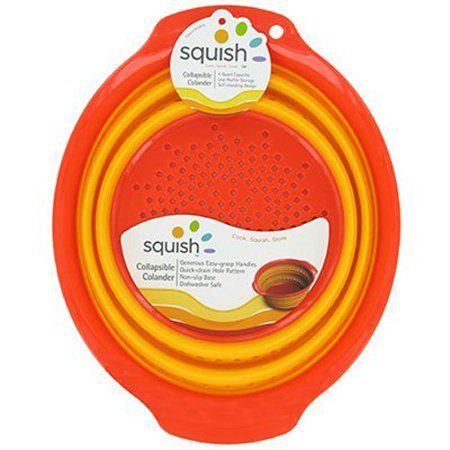 Silicone Colander Collapsible Strainer 4 Qt. Dishwasher Safe, QUICK drain - best colander for your kitchen. Strain most foods like spaghetti, pasta, potatoes.., By