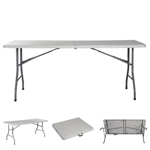 Ktaxon 6 Foot Lightweight White Folding Table Portable Plastic Indoor   Outdoor Picnic Party Dining Camping Tables,... by Interfave