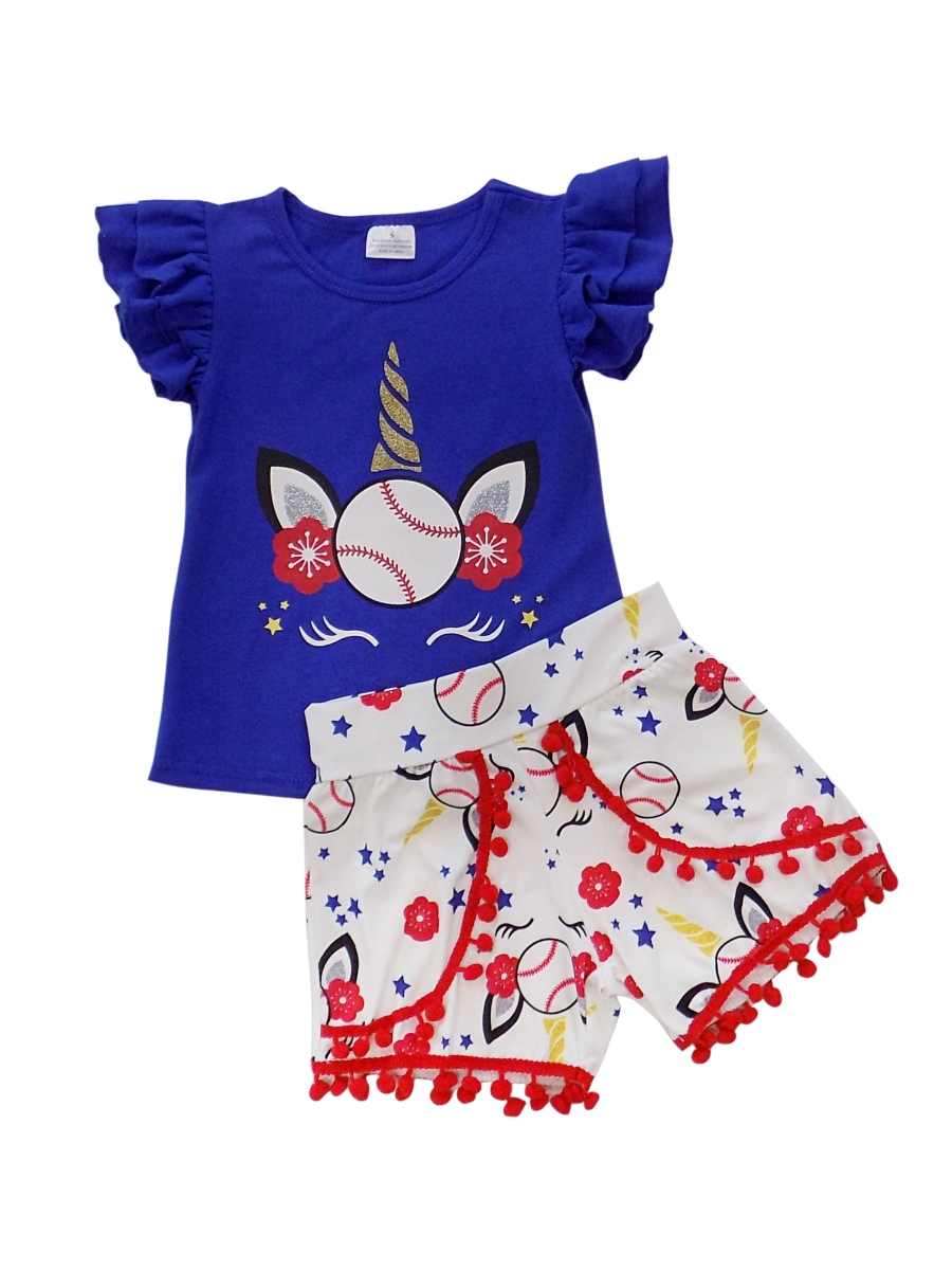 Girls Toddler Baseball Summer Dress or Outfit, Baby Bubble Romper So Sydney
