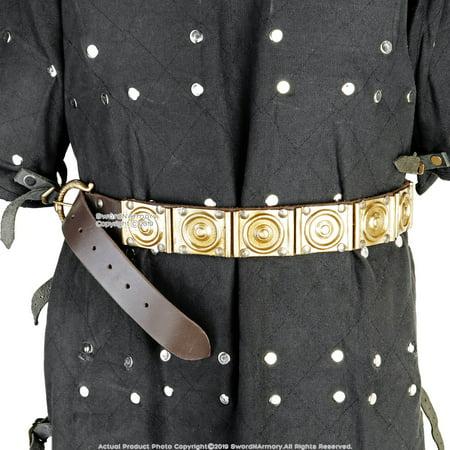 Roman Military Soldier Legionary Leather Belt Centurion Genuine Brass Sword Frog