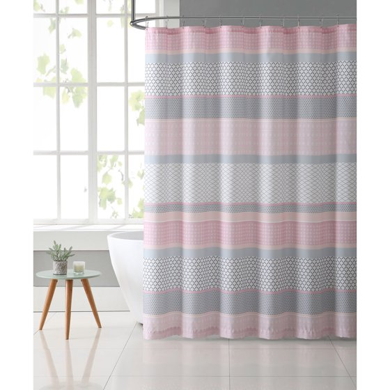 light gray shower curtain. VCNY Home Light Pink Grey Stockholm 72 X Shower Curtain Scintillating Contemporary  Plan 3D house