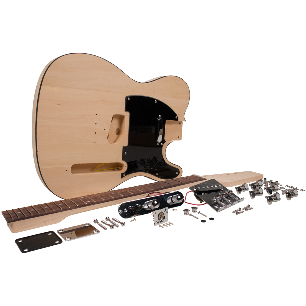 Seismic Audio Premium DIY Tele Style Electric Guitar Kit - Unfinished Luthier Project Kit - SADIYG-03