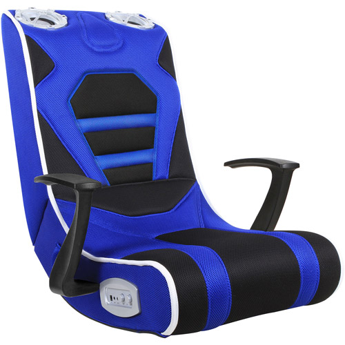 Gaming Chair Blue Black Walmart Com