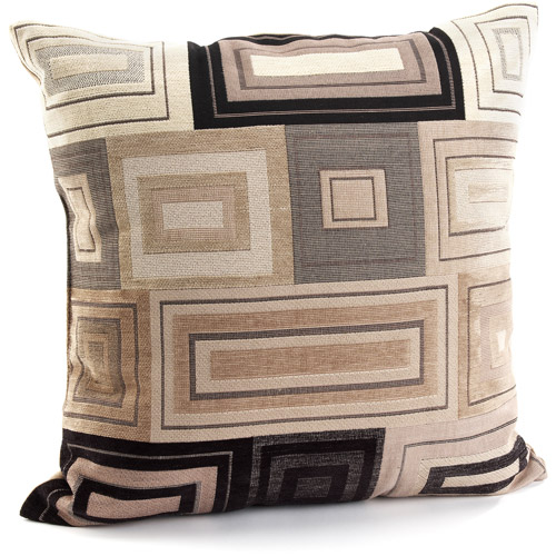 Better Homes and Gardens Squares & Rectangles Accent Pillow with Sustainable Fill, Brown