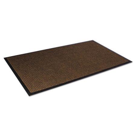 Crown Super-Soaker Wiper Mat w/Gripper Bottom, Polypropylene, 34 x 58, Dark Brown