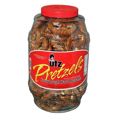 Utz Old Fashioned Sourdough Hard Pretzel Barrel 4 lbs. (2 ct.) vevo, Rich sourdough taste By Europe Standard