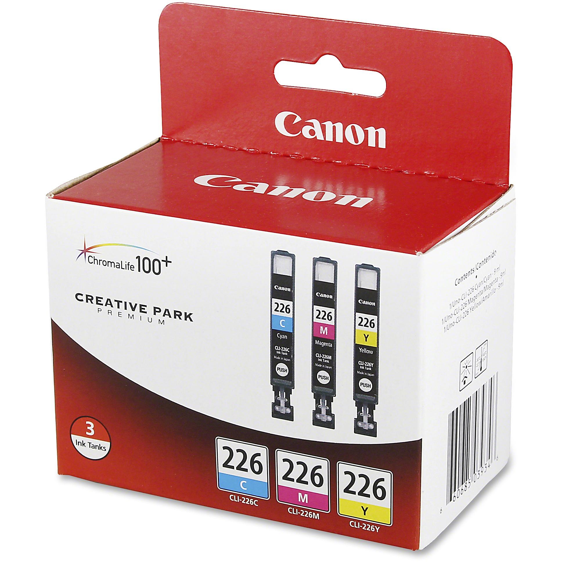 Canon 4547B005 (CLI-226) Ink, Cyan/Magenta/Yellow, 3/PK