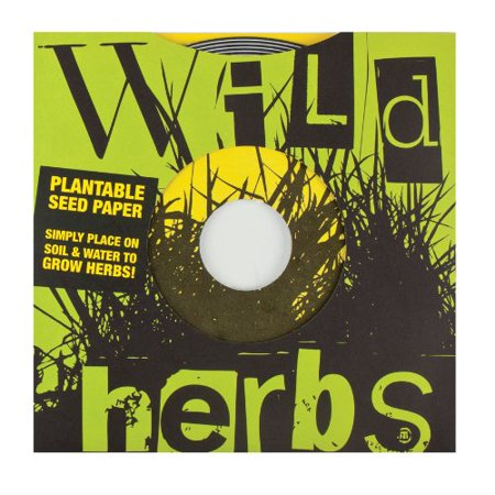 - Indoor Gardening Plantable Seed Paper 45 Record, Wild Herbs, Size: 7D By Noted