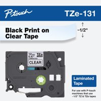 Brother Genuine P-touch TZE-131 Tape, Standard Black on Clear Laminated Tape