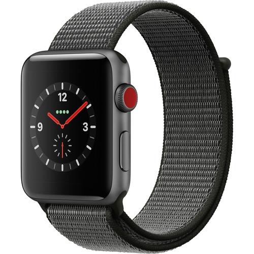 Apple Watch Series 3 42mm Smartwatch (GPS Cellular Space Gray Dark Olive Sport)