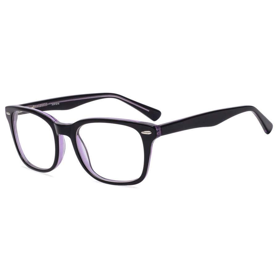 Contour Womens Prescription Glasses, FM13038 Black/Purple