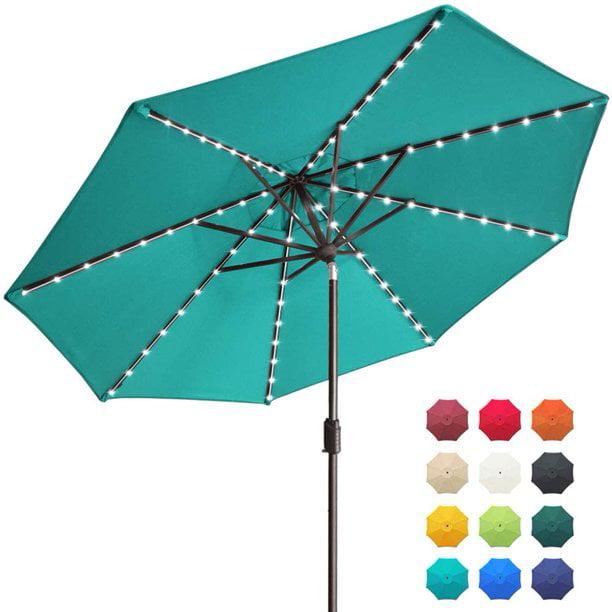Eliteshade Sunbrella Solar Umbrellas, Patio Umbrellas With Solar Lights