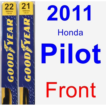 2011 Honda Pilot Wiper Blade Set/Kit (Front) (2 Blades) - Premium ()