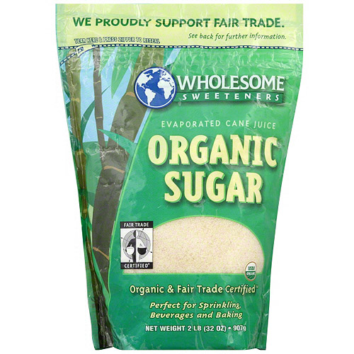 Wholesome Sweeteners Organic Sugar, 2 lb (Pack of 12)