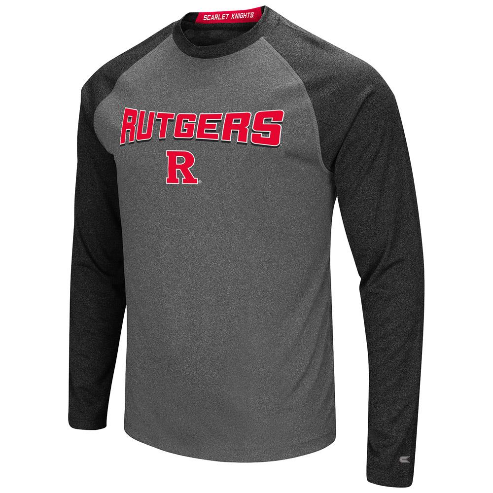 Mens Rutgers Scarlet Knights Long Sleeve Raglan Tee Shirt - S