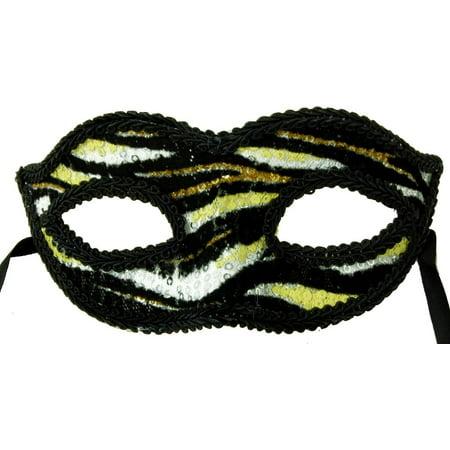 Petites Sorcieres Halloween (Electro Petite Costume Mardi Gras Mask Gold w/Black Swirls One)
