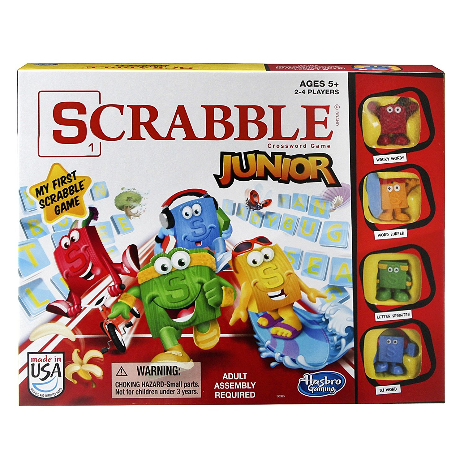 Scrabble Junior Game, For 2 to 4 players. By Hasbro by