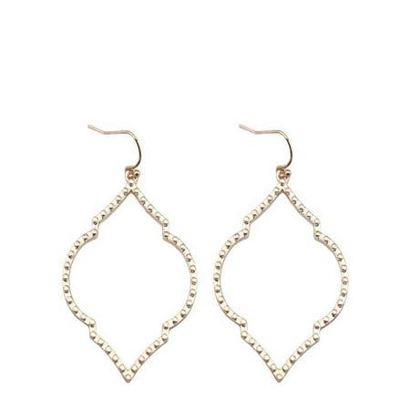 StylesILove Womens Girls Arabesque Chandelier Filigree Statement Earrings (Rose Gold)