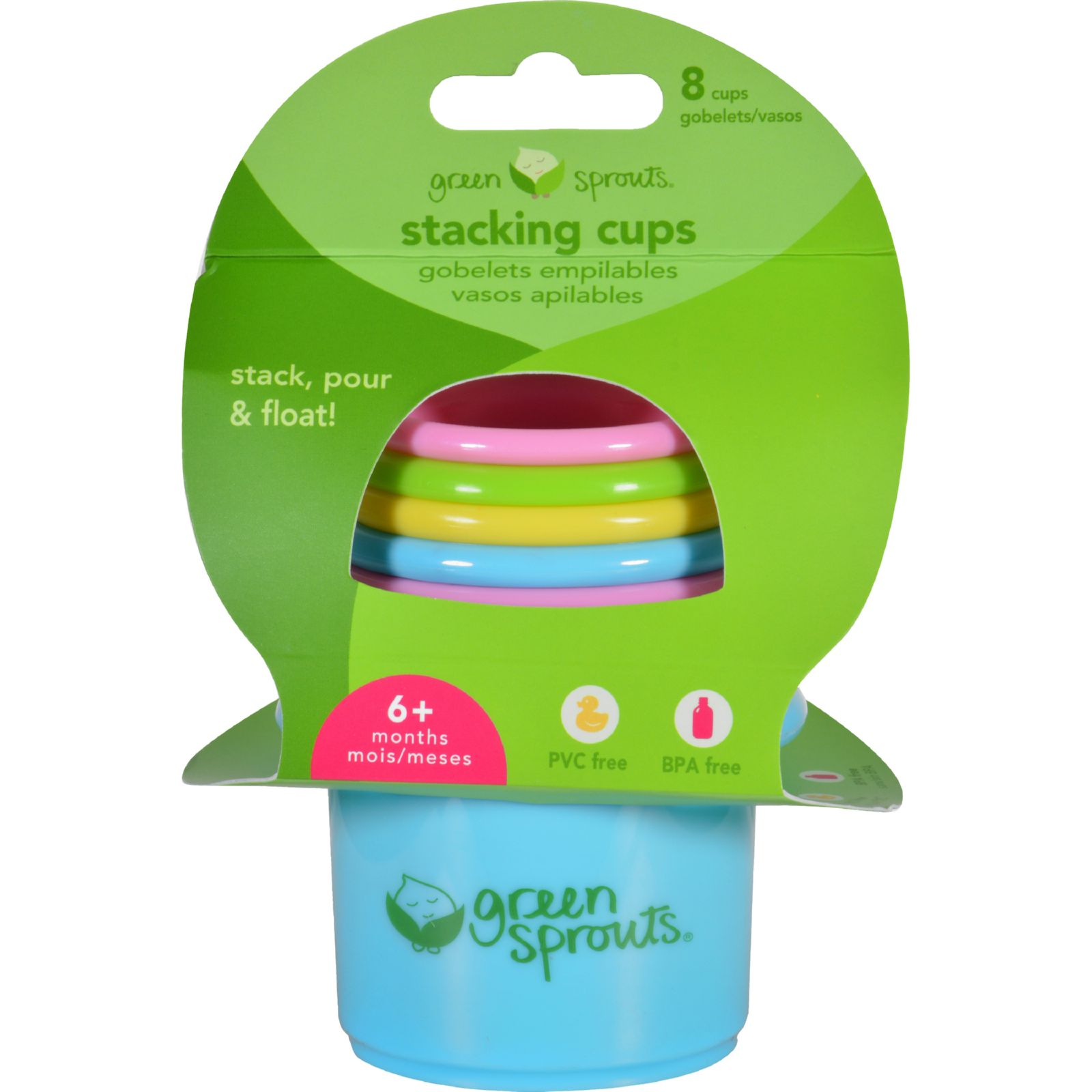 Green Sprouts Stacking Cups - 6 Months Plus - 8 Pieces - ...