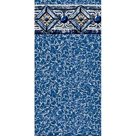 Pool Liner Above Ground Uni-Bead 8 Ft. x 12 Ft. Oval x 48 In. H - GLI Aqualiner Capri Tile Pattern - 25 ML Gauge - 20 Year Warranty - Made (Lomart Capri Liner)