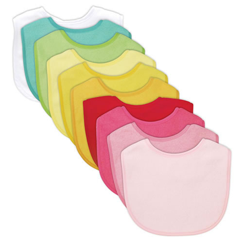 Waterproof Absorbent Bib 10 Pack (Girl's Set)