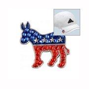 Bella Crystal Golf Ball Marker & Hat Clip - Democrat