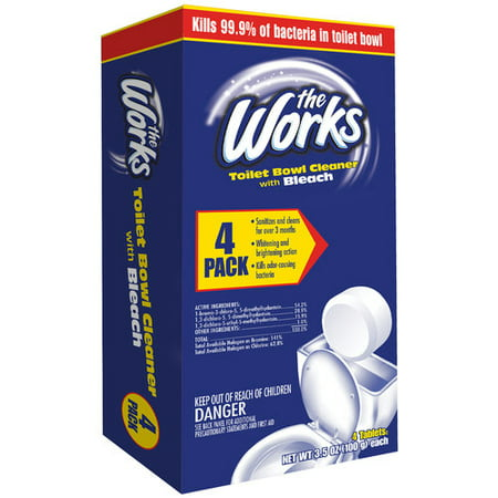 The Works® Toilet Bowl Cleaner With Bleach Tablets 4 ct Box